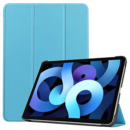 ZETIAN para iPad Air 2020 Funda de 10,9 Pulgadas Plegable de Cuero PU Funda Protectora para Tableta Funda para Funda iPad Air 4 Coque 2020-cielo Azul_para iPad Air 4 2020