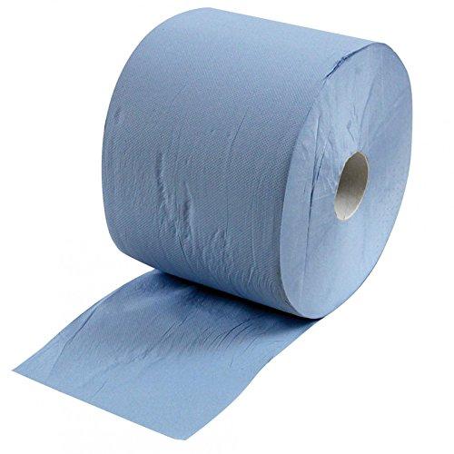 1 Putzrolle (3-lagig) 1.000 Abrisse, Papiertücher, Putztücher, Papier-Rolle in Farbe blau