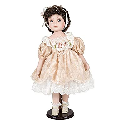 """Delton Products Porcelain Doll """"Gianna, 18"""""""