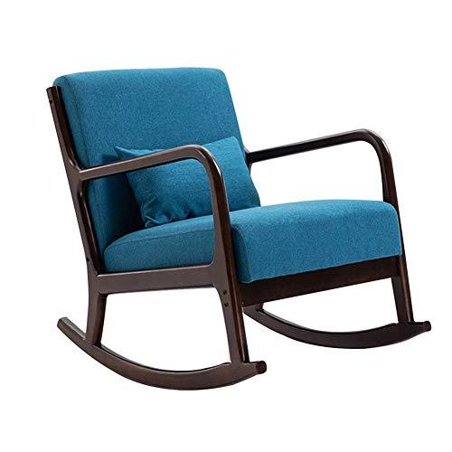 Lounge Chair Mecedoras Asientos de sillas Silla de Playa Interiores Patio oscilante clásico Salón Silla tapizada Sillones W/Cintura Almohada reclinables Balcón Porches Eje de balancín de 6 Colores
