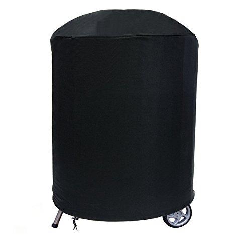 Ferocity Funda para Redondo Barbacoa Oval BBQ Robusta Protectora Cubierta de Parrilla Resistencia 59-69 cm x 90 cm Negro [084]