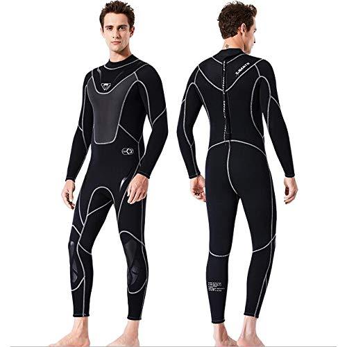ZWPY Wetsuit 3Mm Monopiece Traje de Complete Ropa de Baño,para Hombre Deportes Acuáticos, Buceo, Surf, Snorkel y Natación,C,L