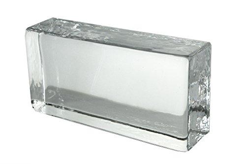 1 Stück Crystal Collection Klassisch Glasziegel Glänzend 20x10x5 cm
