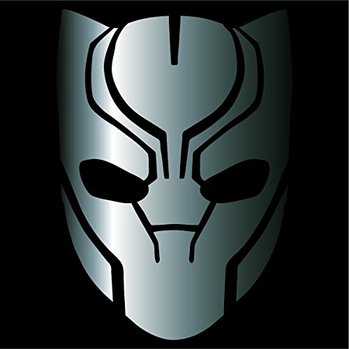 Cove Signs Black Panther Decal/Sticker - Silver 4' - Avengers, Marvel