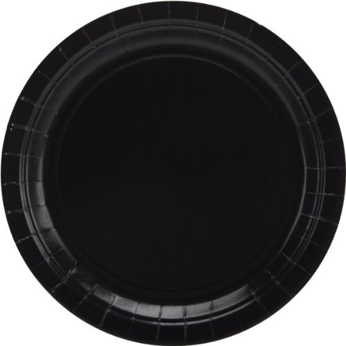 Big Party Pack Jet Black Paper Plates | 9' | Pack of 50 | Party Supply