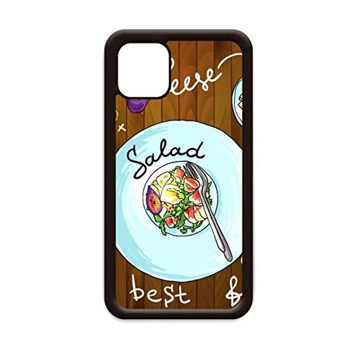 Salad Käse Feigen Frankreich Restaurant für Apple iPhone 11 Pro Max Cover Apple Handy Hülle Schale, for iPhone11 Pro Max