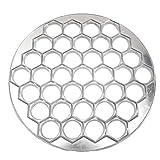 Pelmeni Mold, forma de albóndiga, 37 agujeros de aleación de aluminio, prensa rusa de bolas de masa
