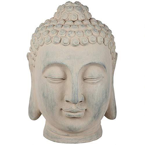 Design Toscano FU82264 Spiritual Meditation Buddha Head Statue, Terracotta