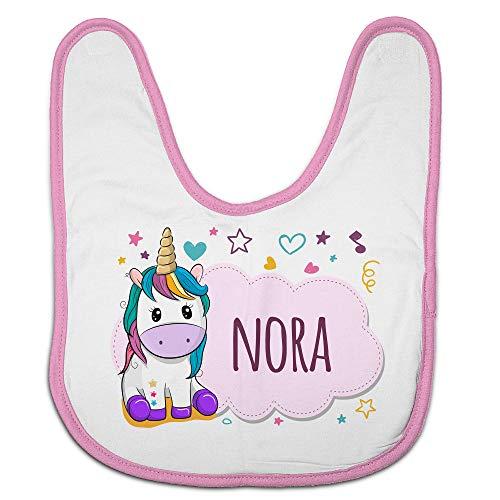 LolaPix Babero Unicornio. Regalos Personalizados con Nombre. Baberos para bebé Personalizados. Varios diseños. Unicornio Rosa
