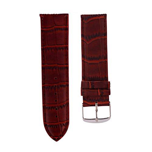 Vincha pulsera de cuero de la hebilla de correa Reemplazar los relojes de Banda, marrón, 14mm