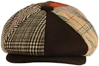 300c50b8794 SK Hat shop Men s Wool Winter Herringbone Plaids newsboy Cabbie Gatsby Cap  Hat Brown