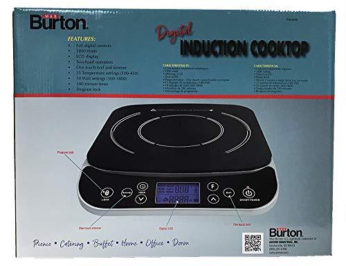 Product Image 8: Max Burton #6450 Digital LCD 1800 Watt Induction Cooktop Counter Top Burner