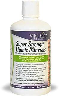 Vital Earth Minerals Super Strength Humic Minerals - 32 Fl. Oz.- 1 Month Supply - Vegan Liquid Therapeutic Strength Trace ...