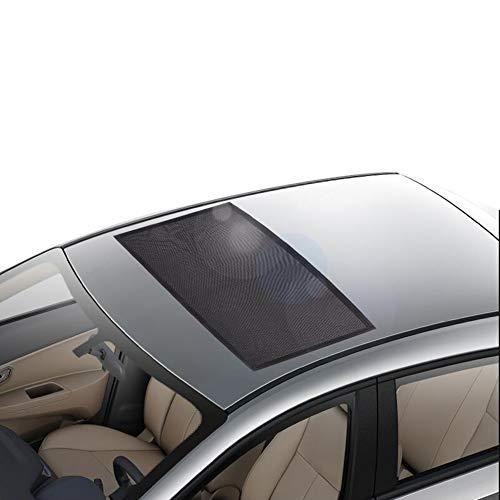 LSXIAO-sonnenschutz frontscheibe Dach Sonnenschirm Isolierende Sonnencreme Magnetadsorption Maschensperre Auto-Moskitonetz Kinder Schützen (Farbe : Schwarz, größe : 95x55cm)