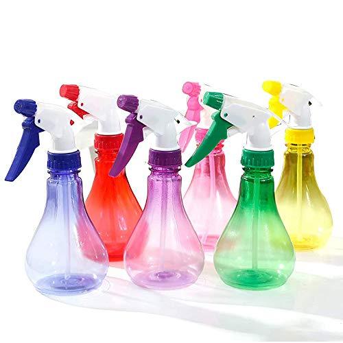AIKENR Bewässerungssprühflasche, 6 Stück, 250 ml, transparente Reiseflaschen, Premium-Kunststoff, nachfüllbar, für Reinigungslösungen, Haare, Gartenarbeit, Reinigung, Reisen