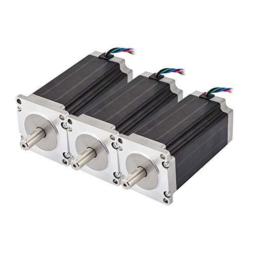STEPPERONLINE 3 Nm Nema 23 Schrittmotor, 4,2 A, 4 Drähte, 10 mm Schaft, DIY CNC-Fräse
