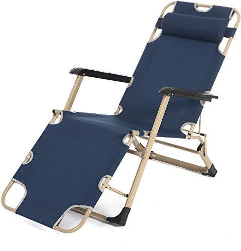 RJJBYY Las sillas Plegables portátiles Patio Tumbona Ajustable con Patio al Aire Libre Tumbona Silla reclinable Ajustable con 330lbs Apoyo para la Cabeza de Apoyo