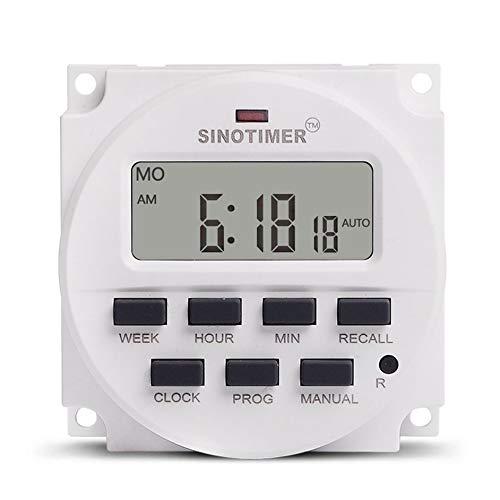 SENZHILINLIGHT SINOTIMER 12V semanal 7 días interruptor de tiempo programable digital relé temporizador Control cuenta regresiva recuperación para electrodomésticos