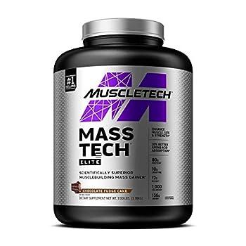 Mass Gainer Protein Powder   MuscleTech Mass-Tech Elite Mass Gainer   Whey Protein Powder + Muscle Builder   Weight Gainer   Protein Powder for Muscle Gain   Creatine Supplements   Chocolate 7 lbs