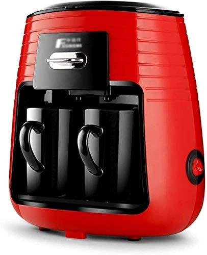 SUYING Cafetera de Filtro Cafetera Hogar Mini 2 Taza de café Máquinas automáticas de Viajes Secador de Pelo con 2 Taza de cerámica Anti-Goteo Sistema 250ml cafetera 450W Vaina DYWFN