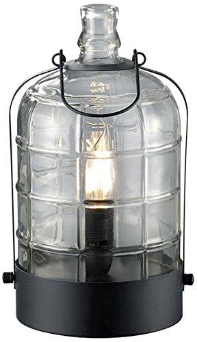 Trio Leuchten Vintage Tischleuchte 502700102 Astrid, Metall schwarz, Glas klar, exkl. 1 x E14