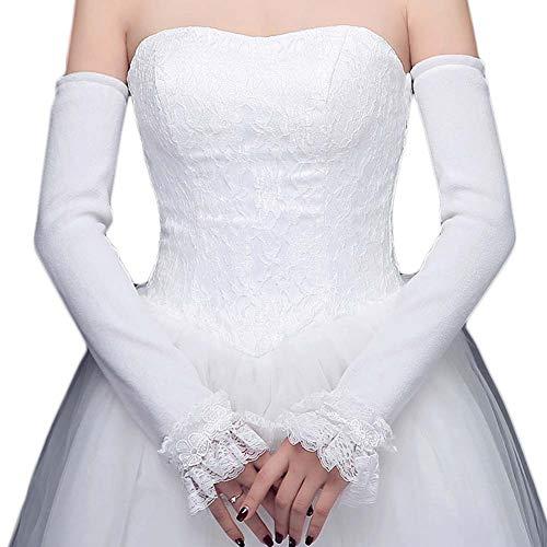 Gants de mariée mariage robe de soirée dentelle longs gants A03