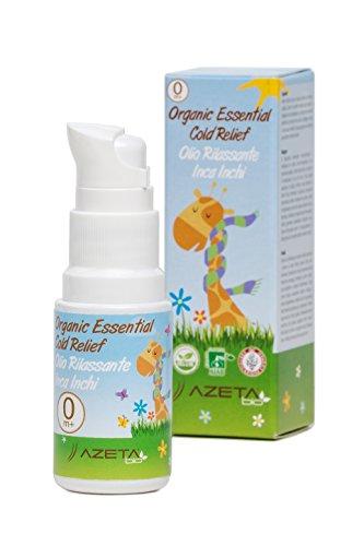 Olio Rilassante - Sollievo da Raffreddore e Tosse - Biologico - AZETAbio - Linea Bimbi - 20 ml