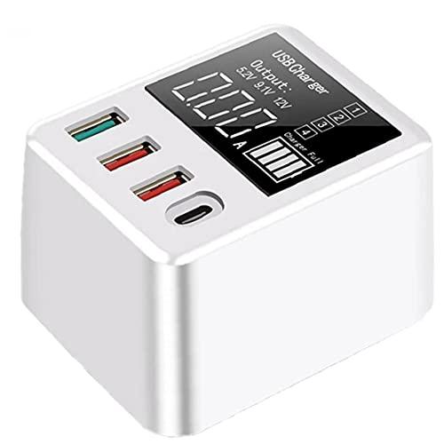 Tuimiyisou Cargador USB 40W QC3.0 rápida 4 Puertos LED Display Pared del Recorrido del Muelle de Carga para el diseño humanizado Móvil