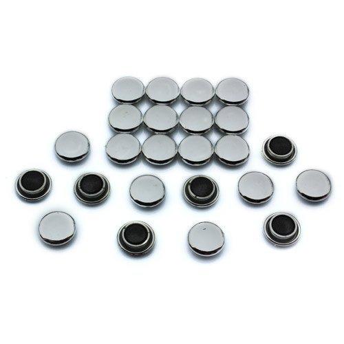 Magnet Expert Ltd - Set di 24 calamite per appendere promemoria alla scrivania o al frigorifero, 20 x 7,5 mm, colore: Argento