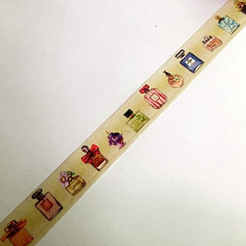 ZXWDL tape Mooie Washi Papier Tape Met Kleur Box/15Mm*5M*2Boxes Varied Parfum Fles Maskeren Japan Washi Tape
