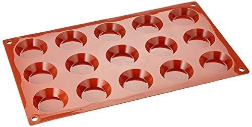 Silikomart 20.013.00.0060 SF013 Moule Forme Tartelette 15 Cavités Silicone Terre Cuite
