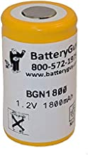 BatteryGuy Replacement for The KR-1300SC Battery (Rechargeable) - Nicad Nickel Cadmium 1.2V 1800mAh