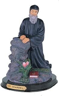 Charbel Sculpture Religious Decoration St Santo Figurine 12 Inch Saint Charbel Statue St