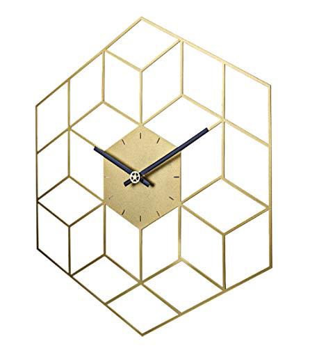 Wandklok35 X 40Cm Creative Iron Cube Wandklok Timer Bediening Stille Wandklok Woondecoratie Decoratie