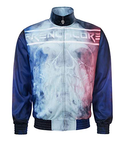 100% Hardcore Trainingsjacke Frenchcore Jacke Smoked Skull (3XL)