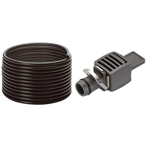 Gardena Micro-Drip-System Verlegerohr: Zentrale Versorgungsleitung, 13 mm (1/2 Zoll), 50 m (1347-20) & Micro-Drip-System Verschlussstopfen, 13 mm (1/2 Zoll)