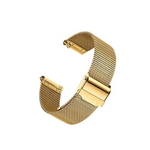 Correas De Reloj Pulsera De Metal De Acero Inoxidable Con Hebilla De Gancho Banda De Reloj De Liberación Rápida Para Hombres Y Mujeres,Gold-22mm