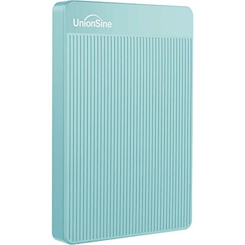 UnionSine Ultra Slim Disco Duro Externo Portátil 2.5' 320GB, USB3.0 SATA HDD Almacenamiento para PC, Mac, MacBook, Chromebook, Xbox, PS4 (Color Azul) HD-006