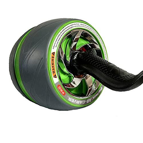 LUO'S Krafttraining & Bodybuilding AB-Rollenrad mit Kniekissen, stummer Rebound, Rollenscheibe, Bauchmuskeln, Fitnesswalze, Home Bauchrad (Color : Green)