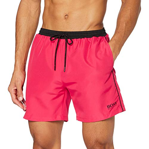 BOSS Herren Starfish Badehose, Medium Pink662, L