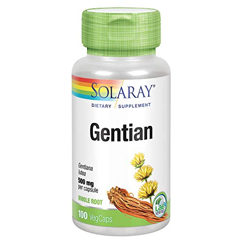 Solaray Gentian Root 500 mg   Healthy Gastrointestinal Wellness & Overall Liver Support   100 VegCaps