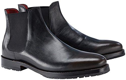 Wellensteyn Schuhe Berringer Chelsea Boots Vollnarbenleder (40, schwarz)