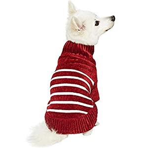 Blueberry Pet 6 Colors Cozy Soft Chenille Classy Striped Dog Sweaters