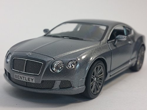 Kinsmart Charcoal Gray 2010 Bentley Continental GT Sport 1/38 Scale Diecast Car