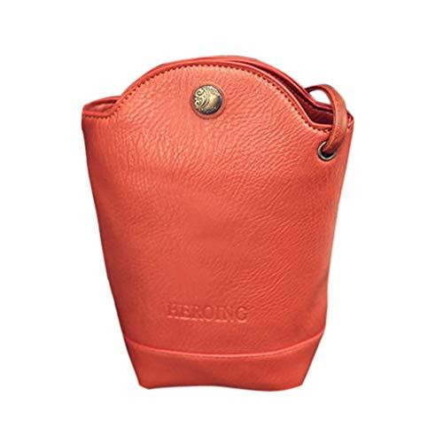 Dorical Damen Handytasche Beuteltasche Crossbody Klein Handtasche Schultertasche Retro Umhängetasche Kuriertasche Tragetasche Taschen Handtaschen Leichte Stylische Tote Bag für Frauen(Orange)