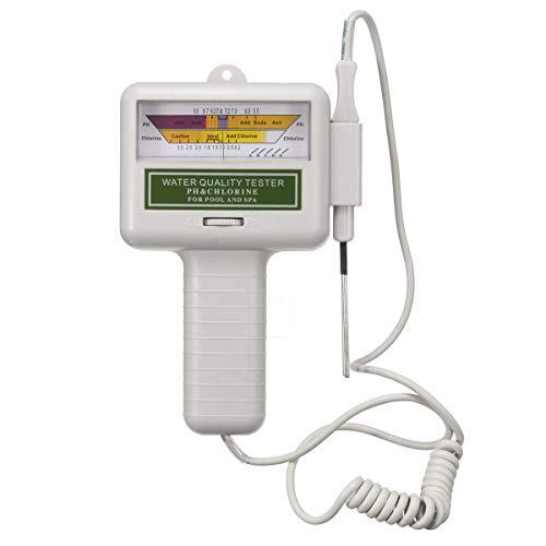 PC101 Testeur de qualité de l' eau PH CL2 Testeur de spa de piscine de niveau de chlore