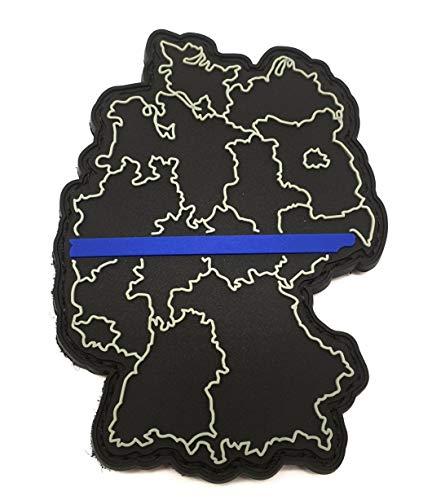 Polizeimemesshop Thin Blue Line Deutschland Rubber Patch PVC