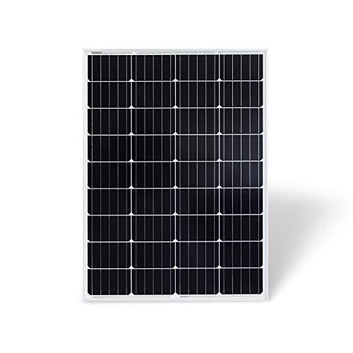 Protron Mono 100W Solarmodul Photovoltaik Monokristallin Solarpanel Solarzelle 100Watt Mono Solar 12v 18v für Wohnmobil, Garten, Boot