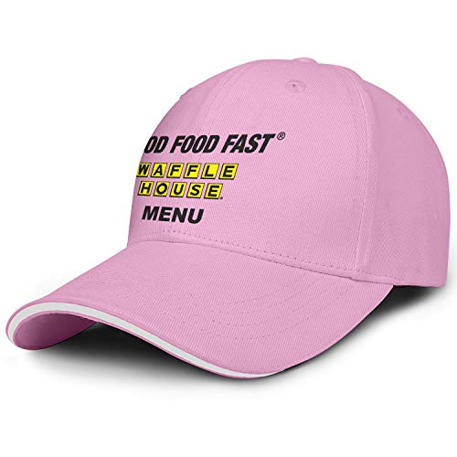 Waffle House Black Logo MENU Mens Women Snapback Visor Cap Sports Caps Curved Hats