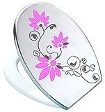 Grafix St02 - Adesivo per sedile WC Pressalit, in vinile, colore: antracite /rosa...